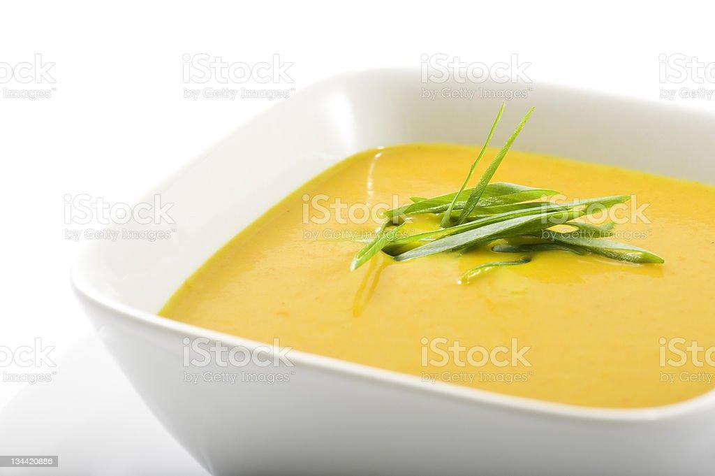 Pumpkin Squash Soup royalty-free stock photo