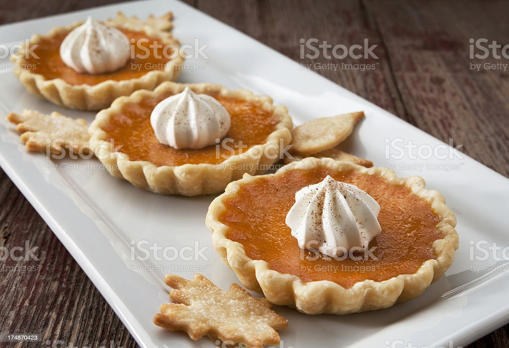 Pumpkin Tarts royalty-free stock photo