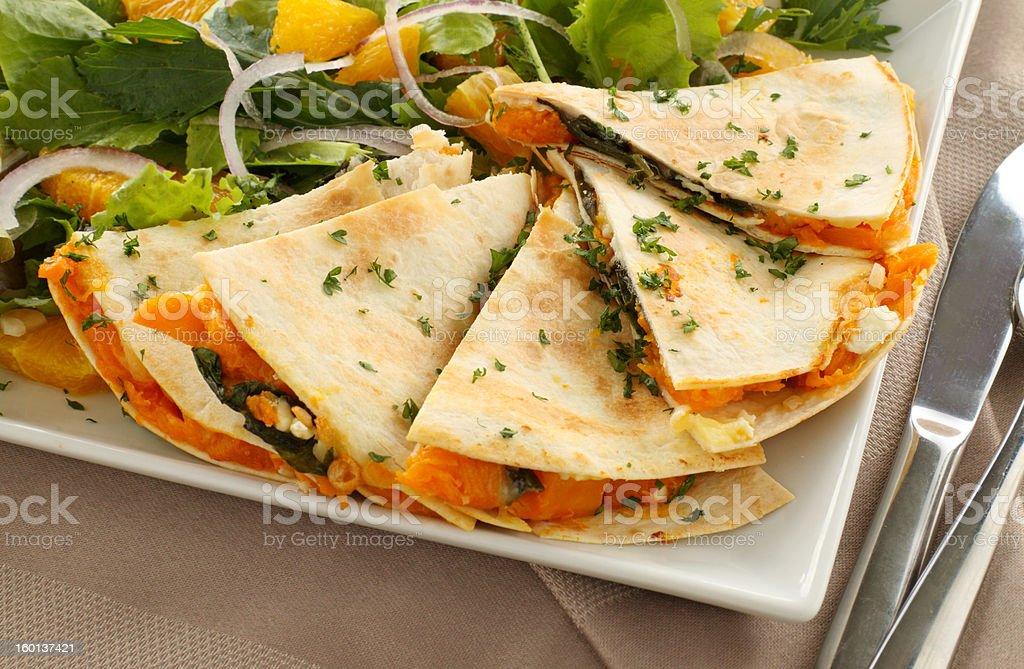 Pumpkin Tortilla stock photo