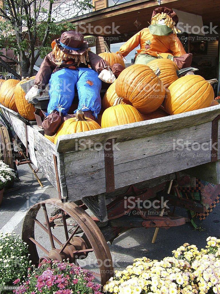 Pumpkin Wagon royalty-free stock photo