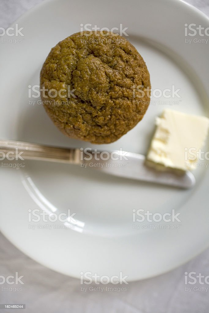 Pumpkin whole wheat muffin royalty-free stock photo