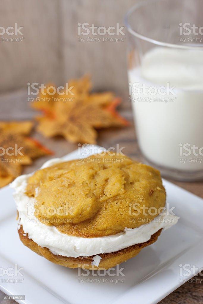 Pumpkin Whoopie Pies stock photo