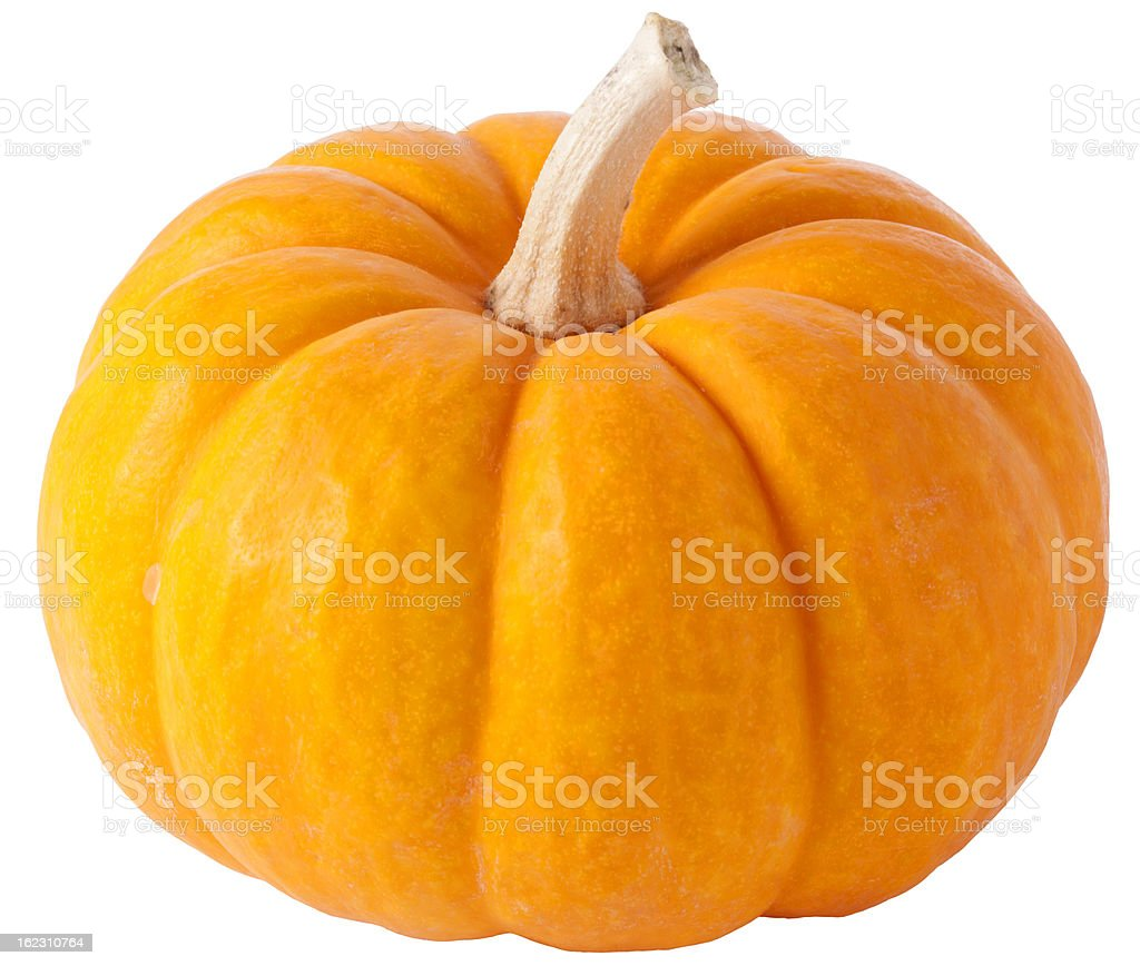 Pumpkin with clipping path royalty-free stock photo
