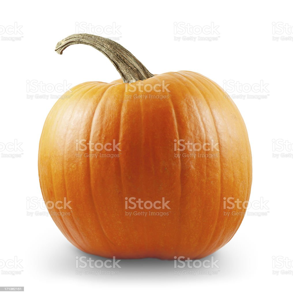 Pumpkin with clipping path stock photo