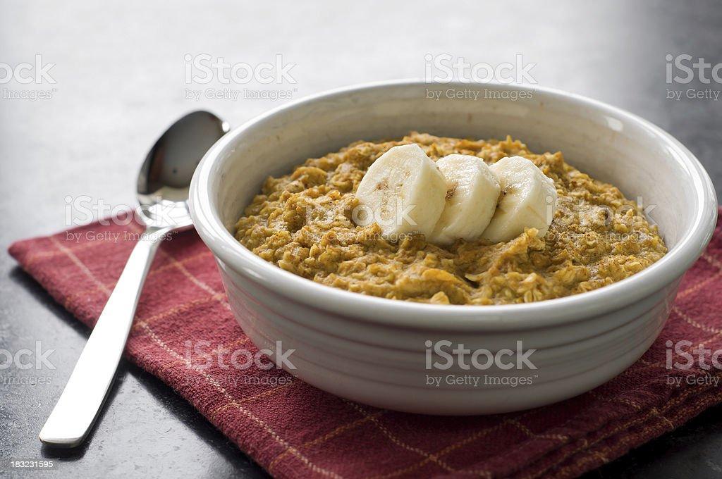 Pumpkin-Banana Oatmeal royalty-free stock photo