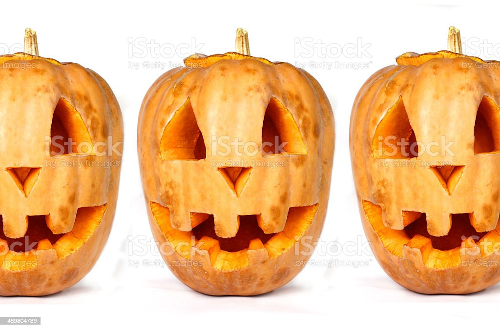Pumpkins for Halloween use as background stock photo