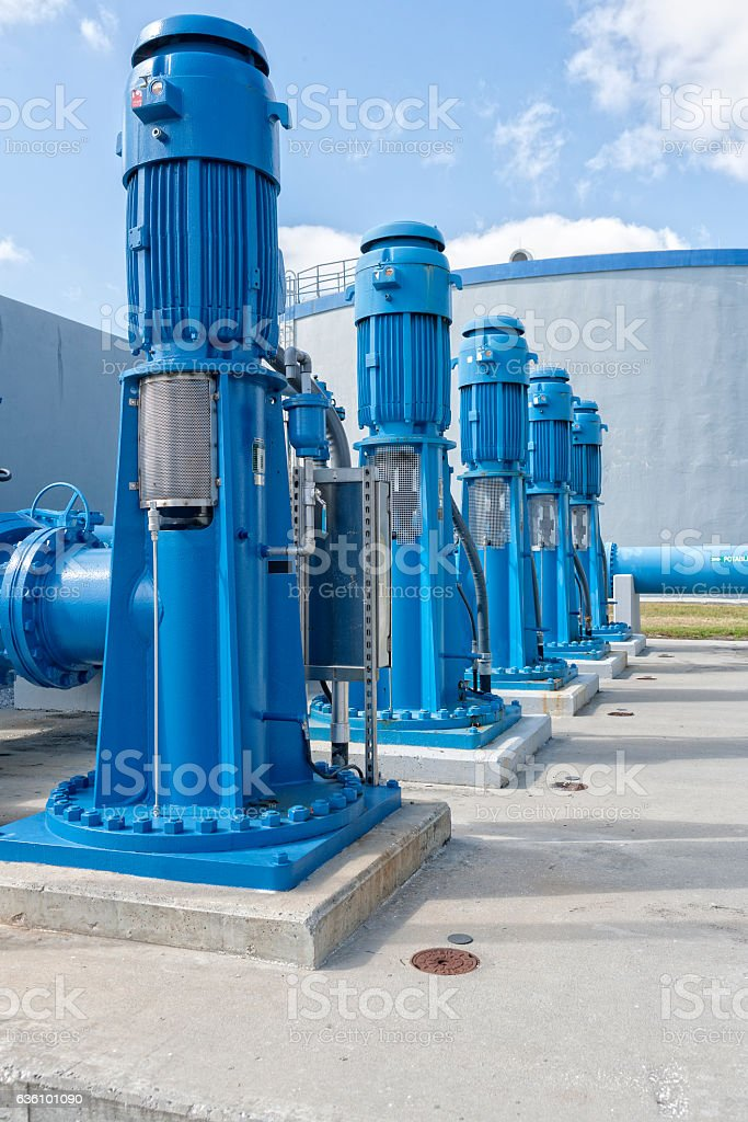 Pumps Used to Transfer Fresh Water at Public Utility stock photo