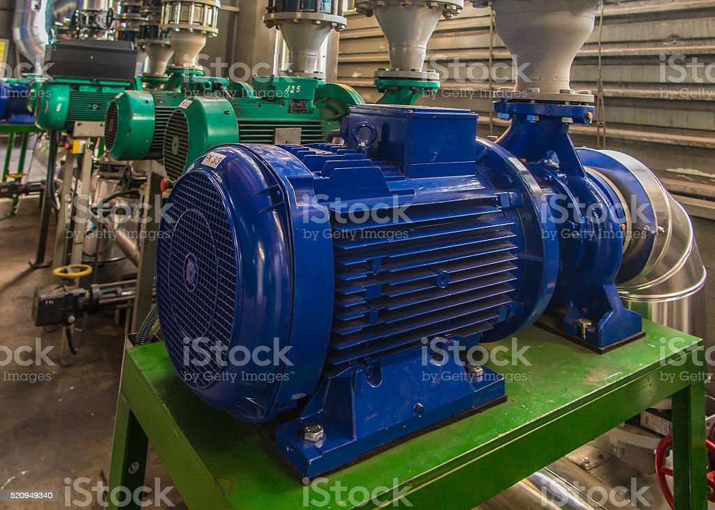 pumps, valves and piping hot and cold water stock photo