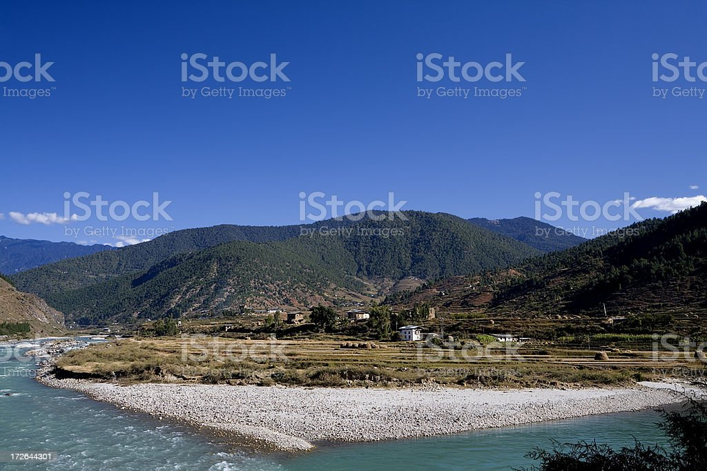 Punakha Countryside royalty-free stock photo