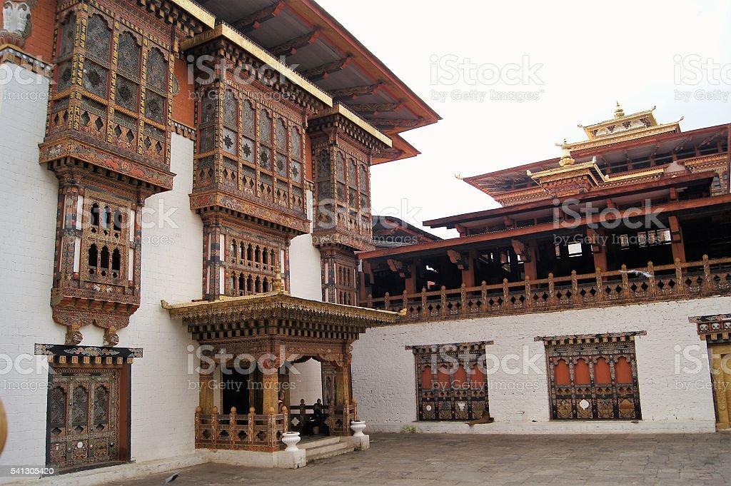 Punakha Dzong, Landmark of Punakha, Bhutan stock photo