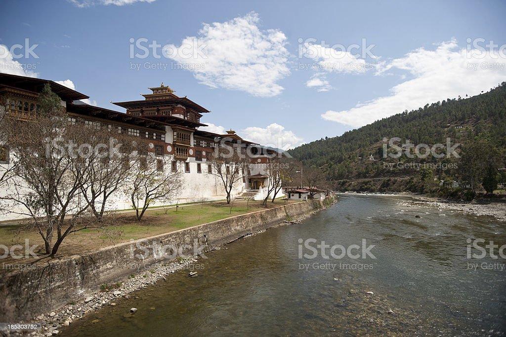Punakha Dzong stock photo