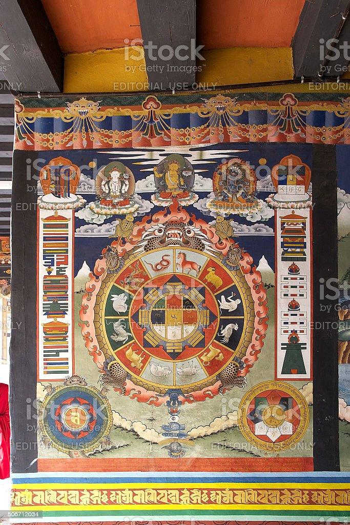Punakha Dzong, Punakha, Bhutan stock photo
