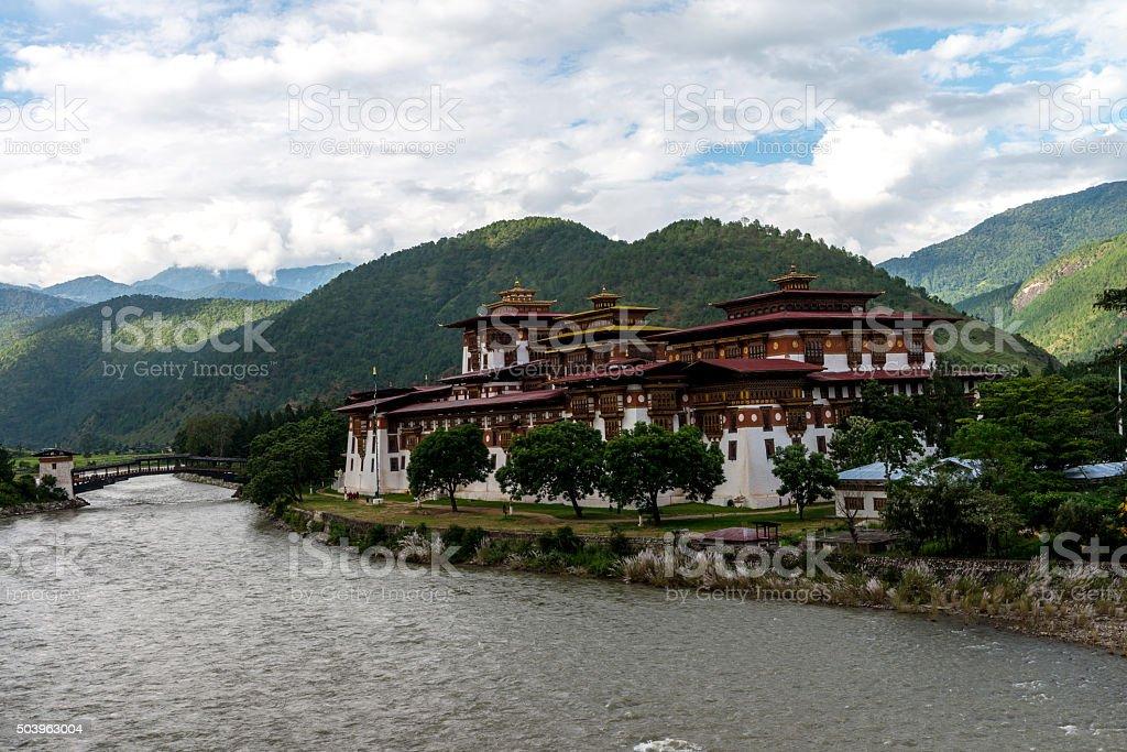 Punakha Dzong, Punakha province Bhutan Sep 2015 stock photo