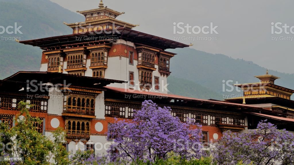 Punakha Monastery stock photo