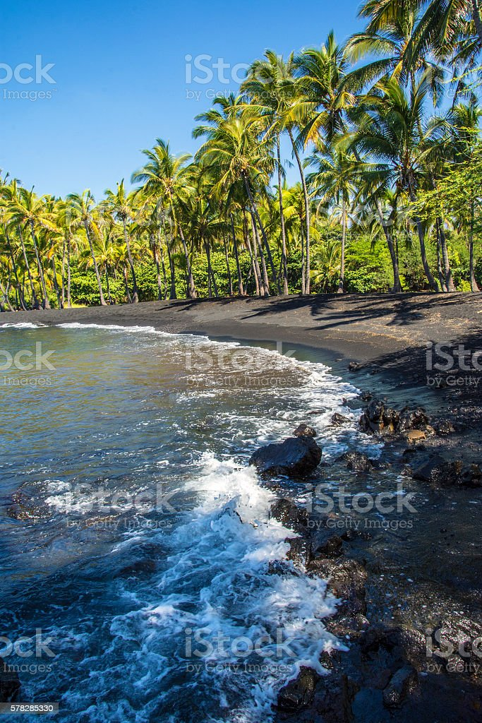 Punalu'u Beach Park stock photo