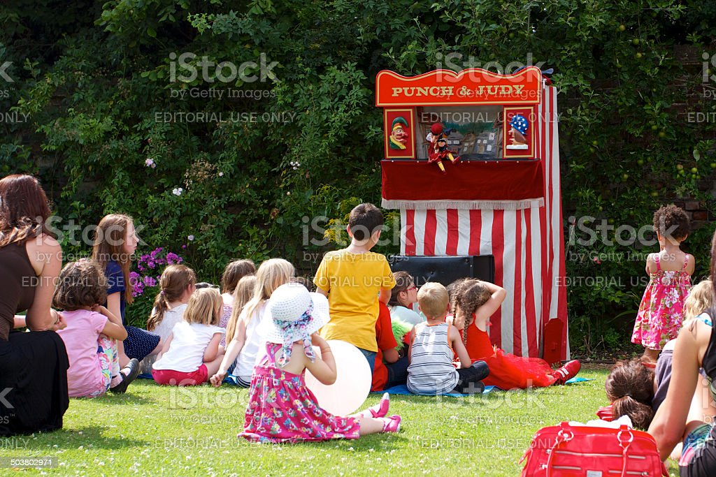 Punch and Judy Performance stock photo