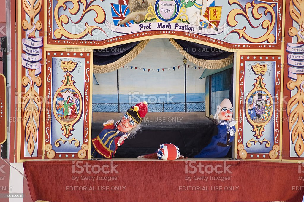 Punch and Judy Performance, Weymouth royalty-free stock photo
