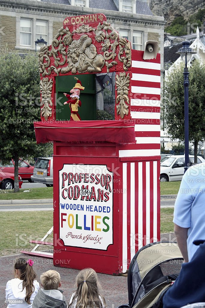 Punch and Judy stock photo