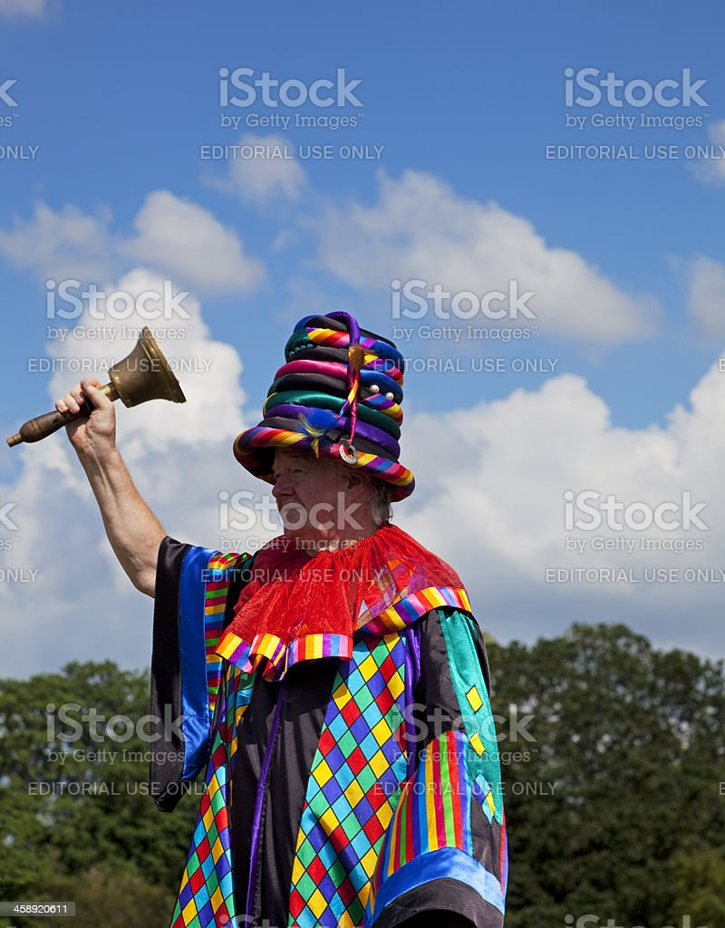 Punch and Judy showman, the Professor royalty-free stock photo