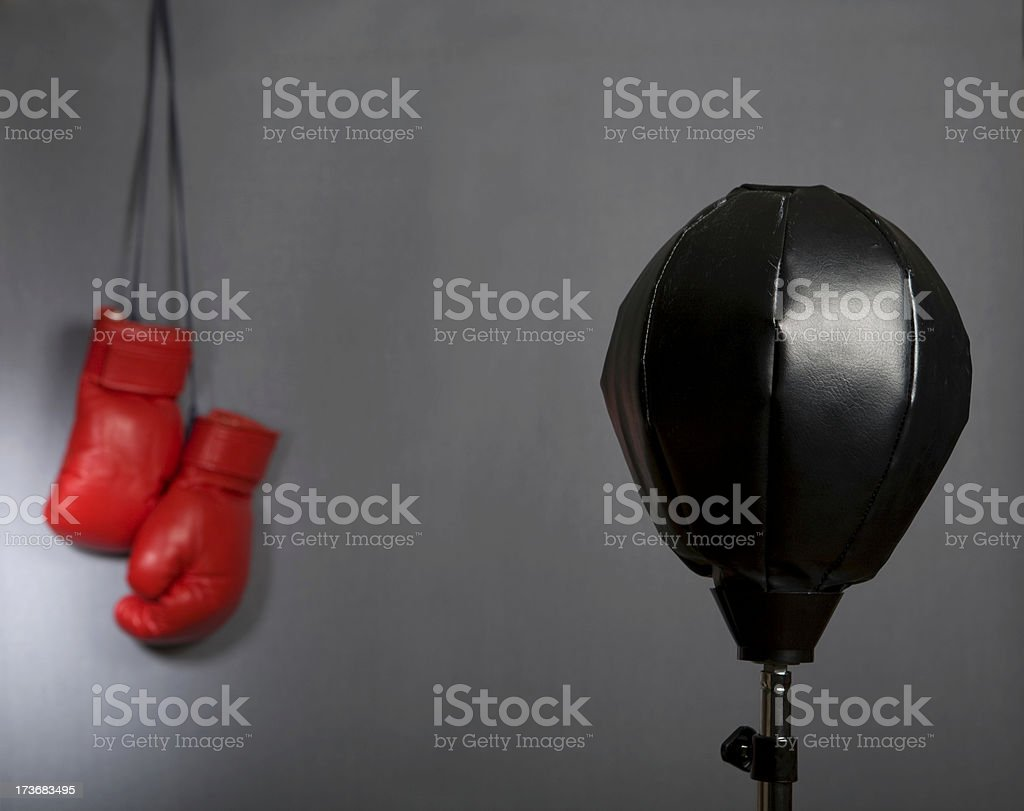 Punch ball royalty-free stock photo