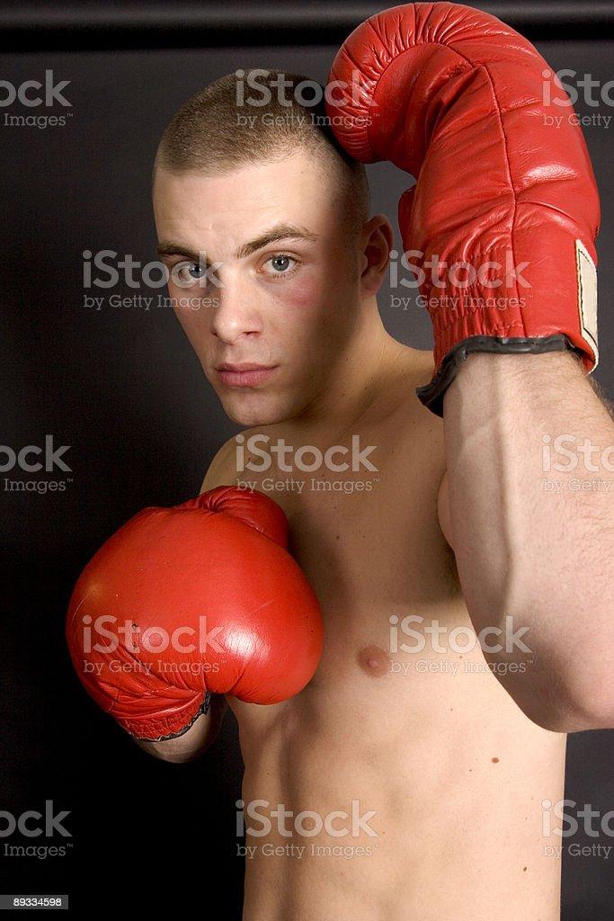 Punch blocker stock photo