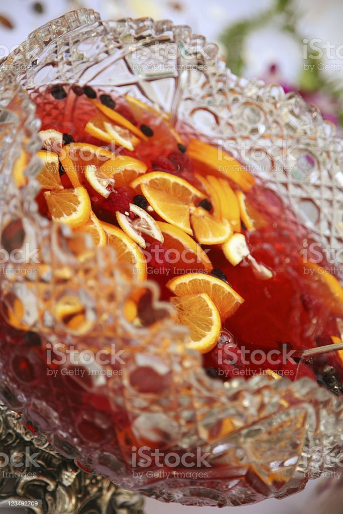 Punch Bowl at a Wedding Reception stock photo