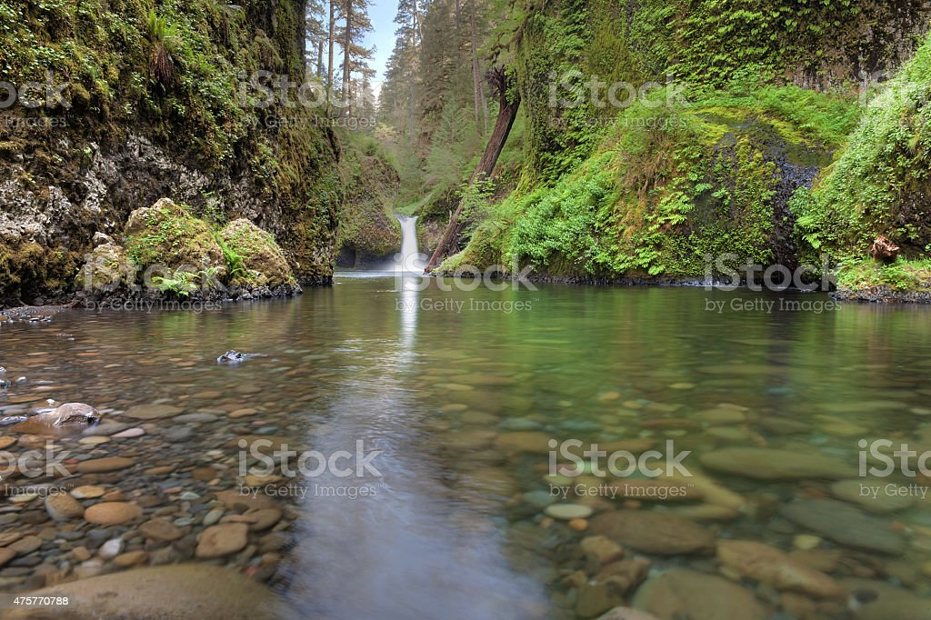 Punch Bowl Falls at Eagle Creek stock photo