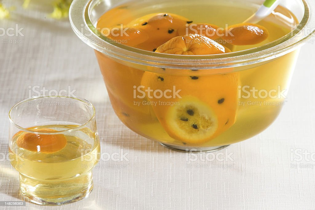Punch bowl stock photo