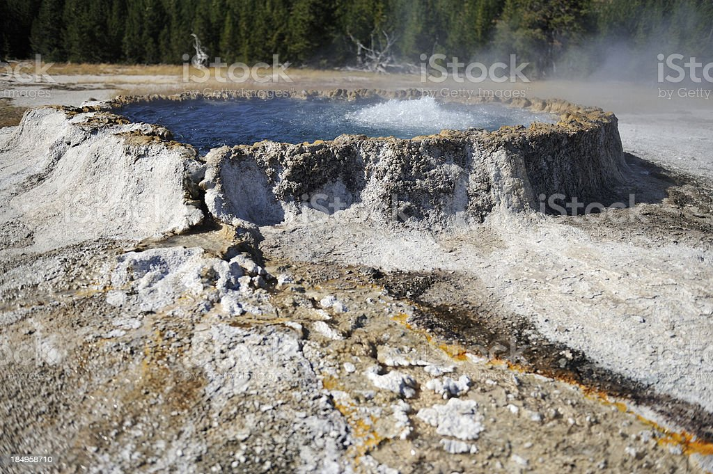Punch Bowl Spring, Yellowstone stock photo