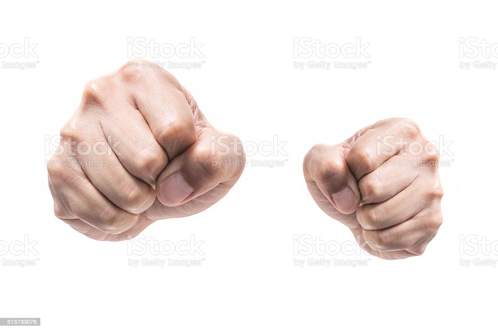 Punch fists isolated stock photo