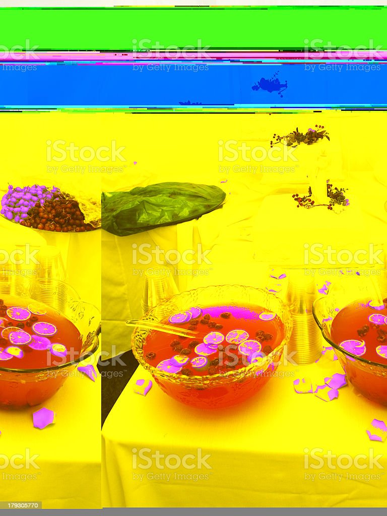 Punch Fruit and the Wedding Cake royalty-free stock photo