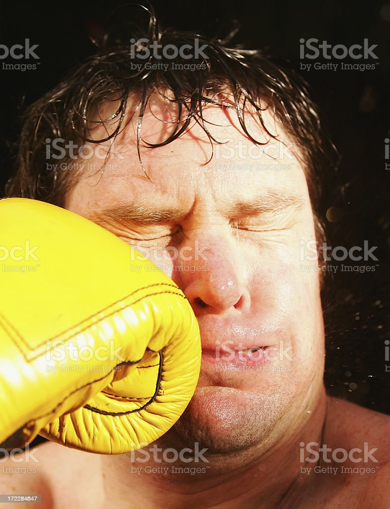 Punch in the Face Impact royalty-free stock photo