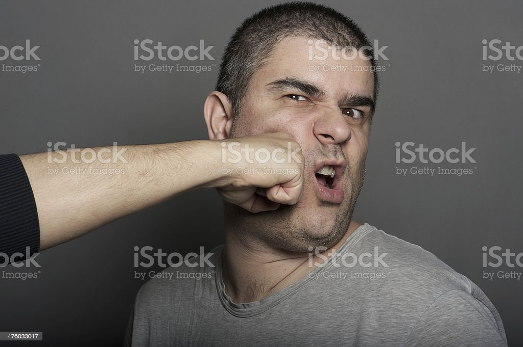 punch in the face royalty-free stock photo