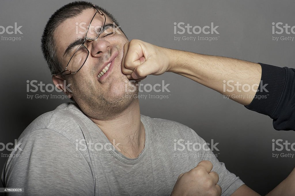 punch in the face stock photo