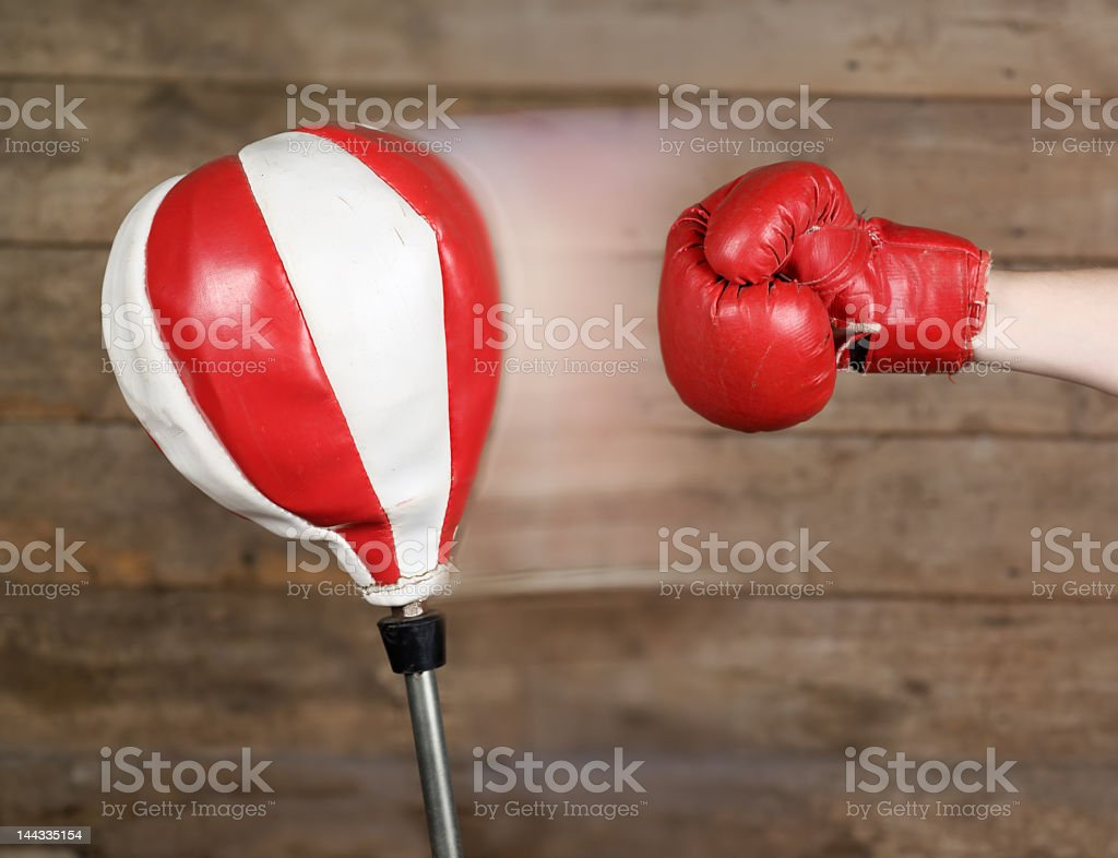 Punch! royalty-free stock photo