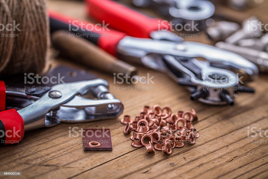 Punch tools stock photo