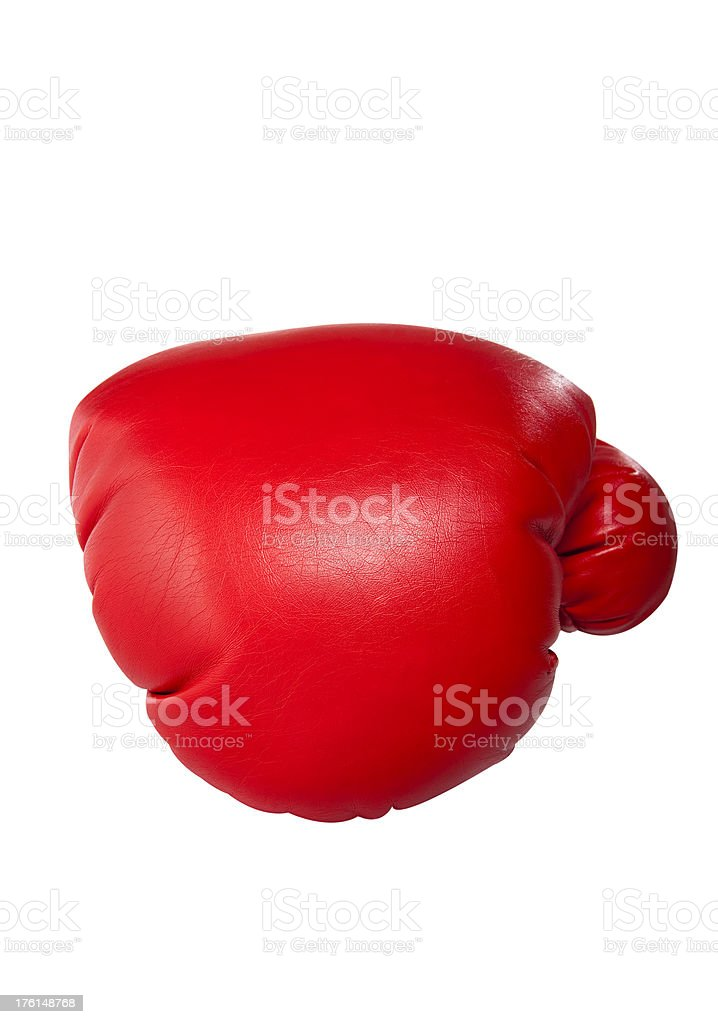 Punch with a boxing glove royalty-free stock photo