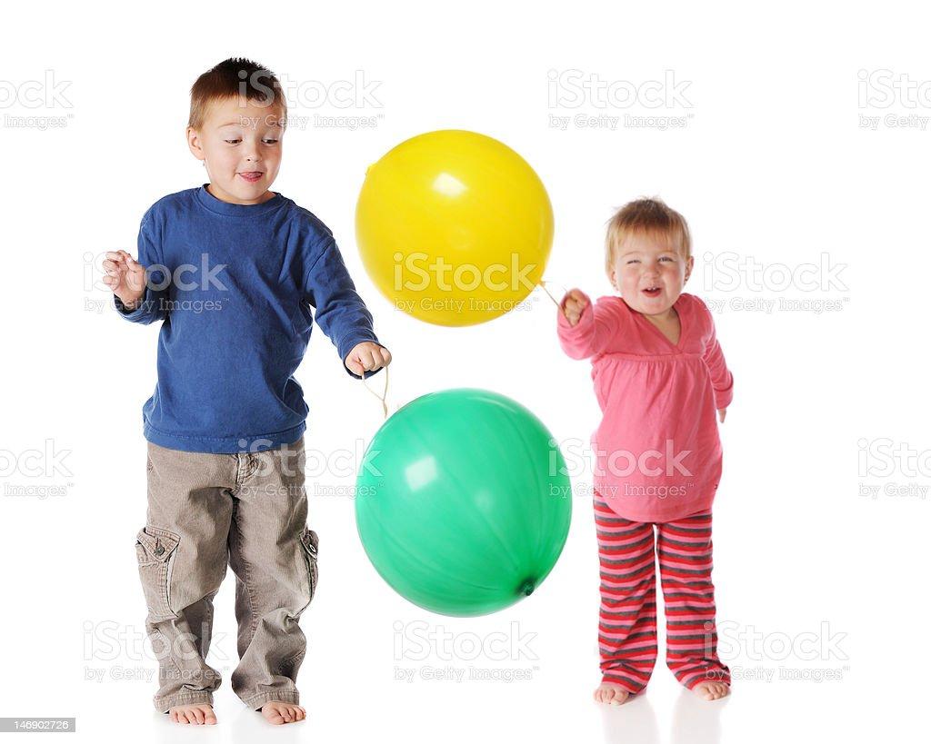 Punchball Siblings stock photo