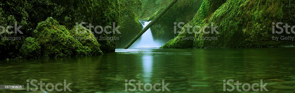 Punchbowl Falls in Columbia River Gorge Oregon stock photo