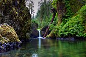 Punchbowl Falls, Saturated in Colors