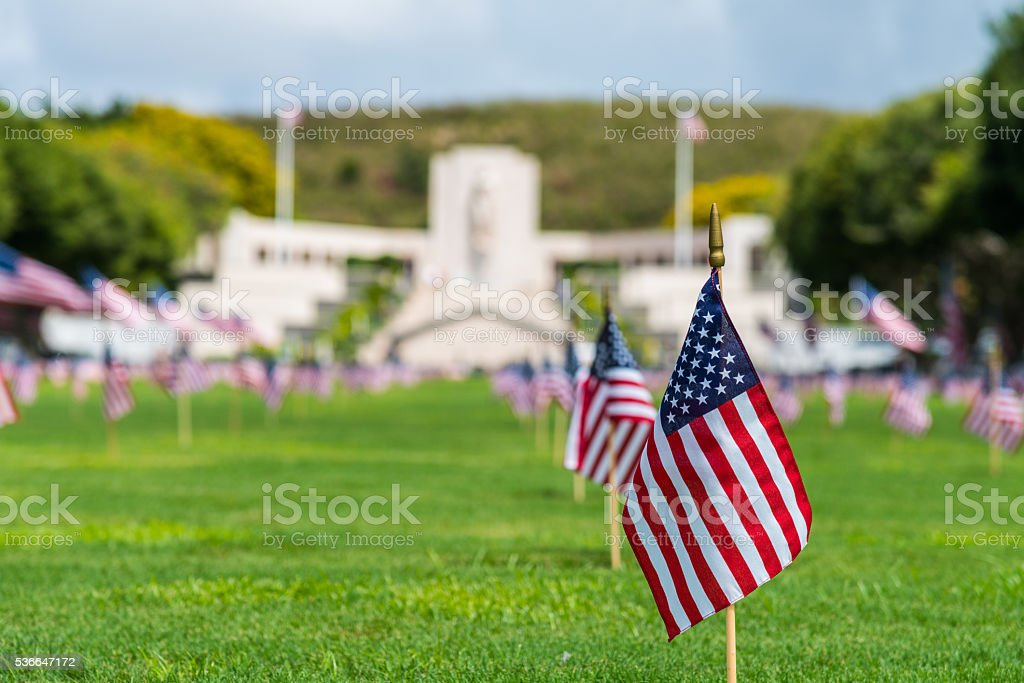 Punchbowl Memorial National Cemetery of the Pacific stock photo