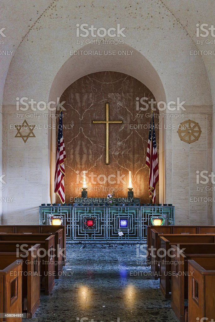 Punchbowl National Cemetery Chapel stock photo