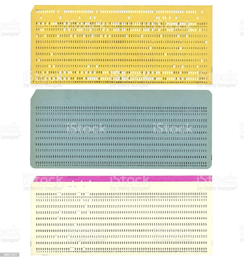 Punched card stock photo