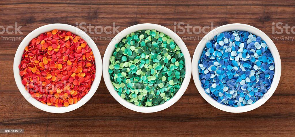 Punched paper dots stock photo