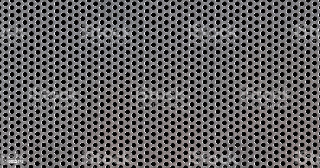 punched stainless steel grill XXXL stock photo