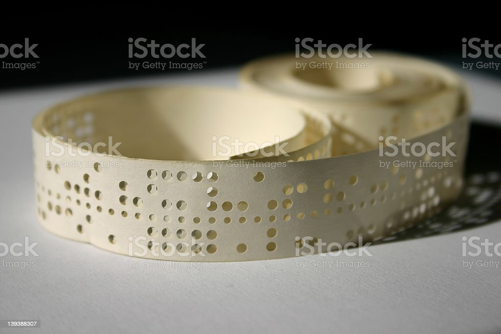 Punched tape stock photo