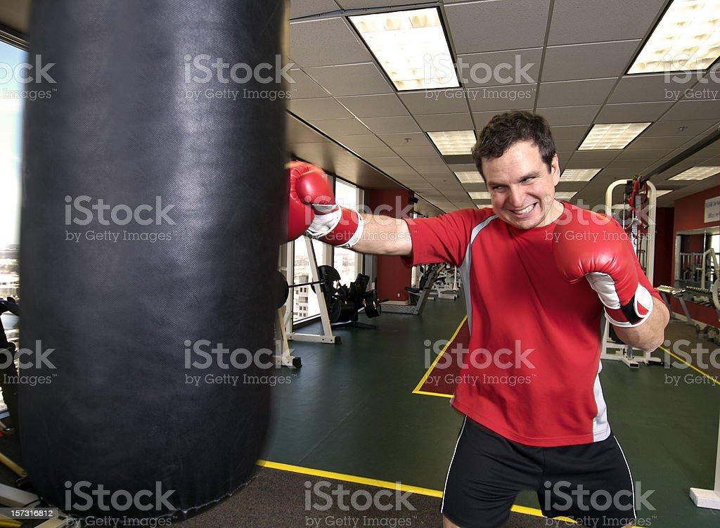 Punching Bag Action stock photo