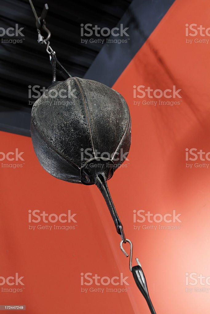 punching bag boxing postcard stock photo