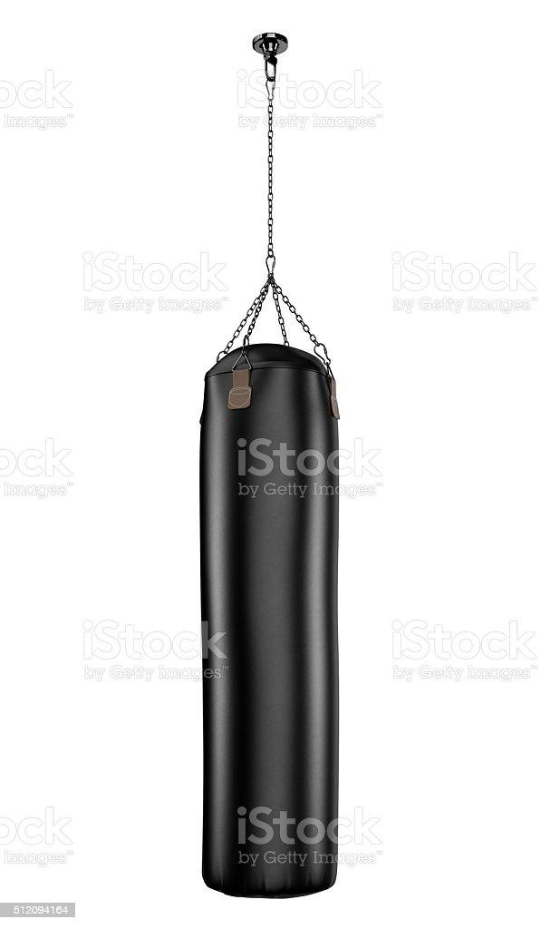 Punching bag isolated on white stock photo