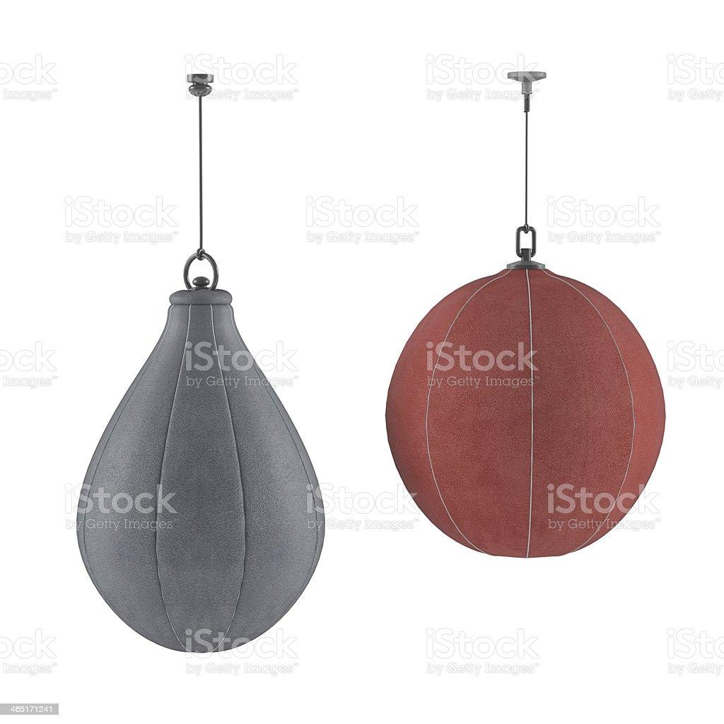 Punching bag isolated stock photo